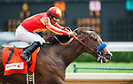 Contested, ridden by Martin Garcia wins the Eight Belles Stakes on Kentucky Oaks Day at Churchill Downs in Louisville, Kentucky on May 4, 2012.