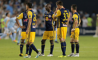 Kansas City, KS - Wednesday September 20, 2017: New York Red Bulls during the 2017 U.S. Open Cup Final Championship game between Sporting Kansas City and the New York Red Bulls at Children's Mercy Park.