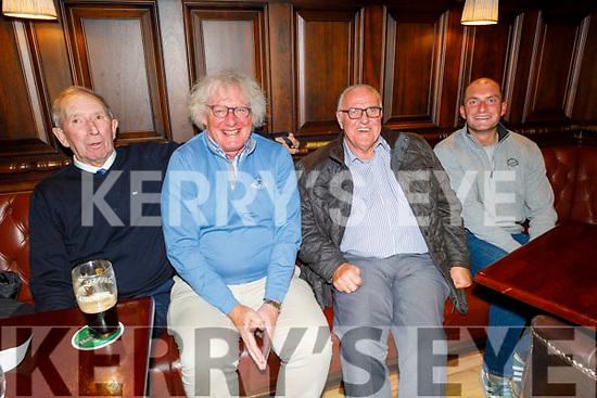 Richard Walsh, John Galvin, Denis O'Sullivan and Eoin Galvin enjoying the evening in the Grand Hotel on Friday.