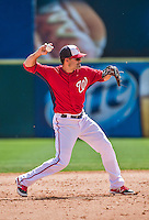 11 March 2014: Washington Nationals infielder Jamey Carroll in action during a Spring Training game against the New York Yankees at Space Coast Stadium in Viera, Florida. The Nationals defeated the Yankees 3-2 in Grapefruit League play. Mandatory Credit: Ed Wolfstein Photo *** RAW (NEF) Image File Available ***