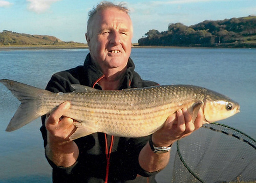 Robbie Reid, winner of the Dr Michael Kennedy Award for Mullet of the Year with his thick-lipped mullet weighing 3.23kg