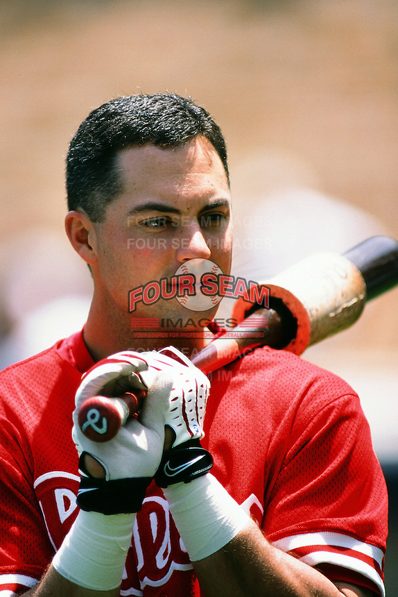 Rico Bronga of the Philadelphia Phillies during a game against the Los Angeles Dodgers at Dodger Stadium circa 1999 in Los Angeles, California. (Larry Goren/Four Seam Images)