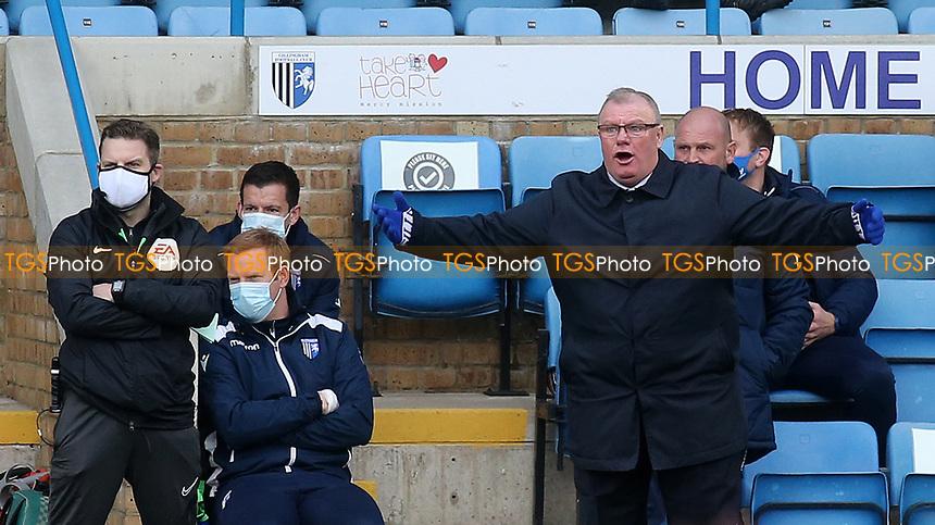 Gillingham Manager, Steve Evans during Gillingham vs Charlton Athletic, Sky Bet EFL League 1 Football at the MEMS Priestfield Stadium on 21st November 2020