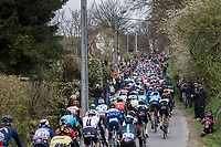 peloton up the (new) Côte de Pont<br /> <br /> 103rd Liège-Bastogne-Liège 2017 (1.UWT)<br /> One Day Race: Liège › Ans (258km)