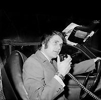 Claude Poirier<br /> , chroniqueur judiciaire a CJMS<br /> (date inconnue, avant 1984).<br /> <br /> Photo : Agence Quebec Presse - Roland Lachance