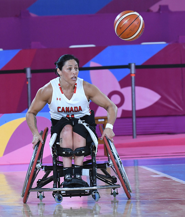 Tara Llanes, Lima 2019 - Wheelchair Basketball // Basketball en fauteuil roulant.<br /> Women's wheelchair basketball competes against Argentina // Le basketball en fauteuil roulant féminin contre Argentine. 25/08/2019.