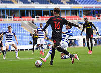 3rd October 2020; Madejski Stadium, Reading, Berkshire, England; English Football League Championship Football, Reading versus Watford; Michael Olise of Reading tackles James Garner of Watford in the penalty area