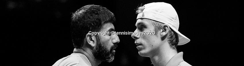 Rotterdam, The Netherlands, 15 Februari 2020, ABNAMRO World Tennis Tournament, Ahoy,<br /> Henri Kontinen (FIN) and Jan-Lennard Struff (GER), Rohan Bopanna (IND) and Denis Shapovalov (CAN).<br /> Photo: www.tennisimages.com