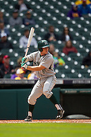 Hawaii Rainbow Warriors outfielder Jonathan Weeks (8) at bat during the NCAA baseball game against the Nebraska Cornhuskers on March 7, 2015 at the Houston College Classic held at Minute Maid Park in Houston, Texas. Nebraska defeated Hawaii 4-3. (Andrew Woolley/Four Seam Images)