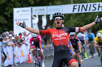 Theo Yates (Drapac) wins the Circuit of Champions, stage five of the 2019 Grassroots Trust NZ Cycle Classic UCI 2.2 Tour from Cambridge, New Zealand on Sunday, 27 January 2019. Photo: Dave Lintott / lintottphoto.co.nz