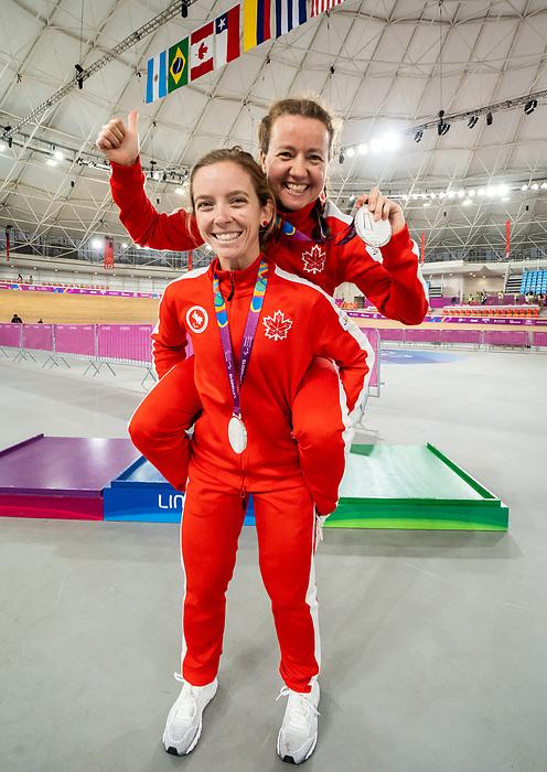 Annie Bouchard and Evelyne Gagnon - Lima 2019. Para Cycling // Paracyclisme.<br /> Annie Bouchard and Evelyne Gagnon with their medals // Annie Bouchard and Evelyne Gagnon avec leurs médailles. 26/08/2019.