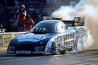 Jun. 30, 2012; Joliet, IL, USA: NHRA funny car driver Ron Capps during qualifying for the Route 66 Nationals at Route 66 Raceway. Mandatory Credit: Mark J. Rebilas-