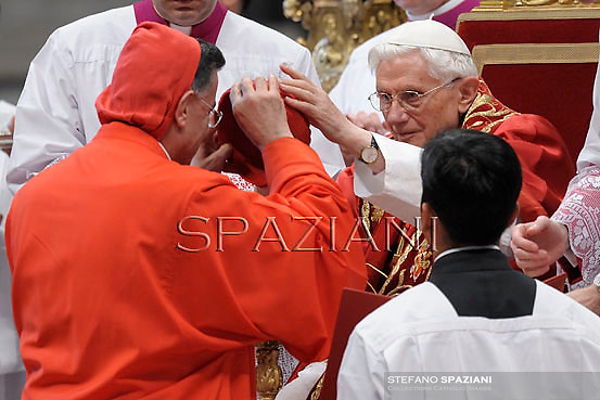 Lebanon's Cardinal Bechara Boutros al-Rahi,Pope Benedict XVI leads a ceremony to appoint six new cardinals at St Peter's basilica at the Vatican.November 24, 2012