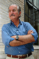 Roma 17/6/2004 festival letterature, Carlos Fuentes<br /> Foto Samantha Zucchi Insidefoto