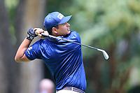 4th September 2020, Atlanta GA, USA;  Sebastian Munoz tees off during the first round of the TOUR Championship  at the East Lake Golf Club in Atlanta, GA.