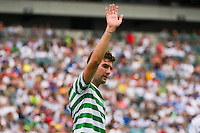 Charlie Mulgrew (21) of Celtic F. C.. Real Madrid defeated Celtic F. C. 2-0 during a 2012 Herbalife World Football Challenge match at Lincoln Financial Field in Philadelphia, PA, on August 11, 2012.