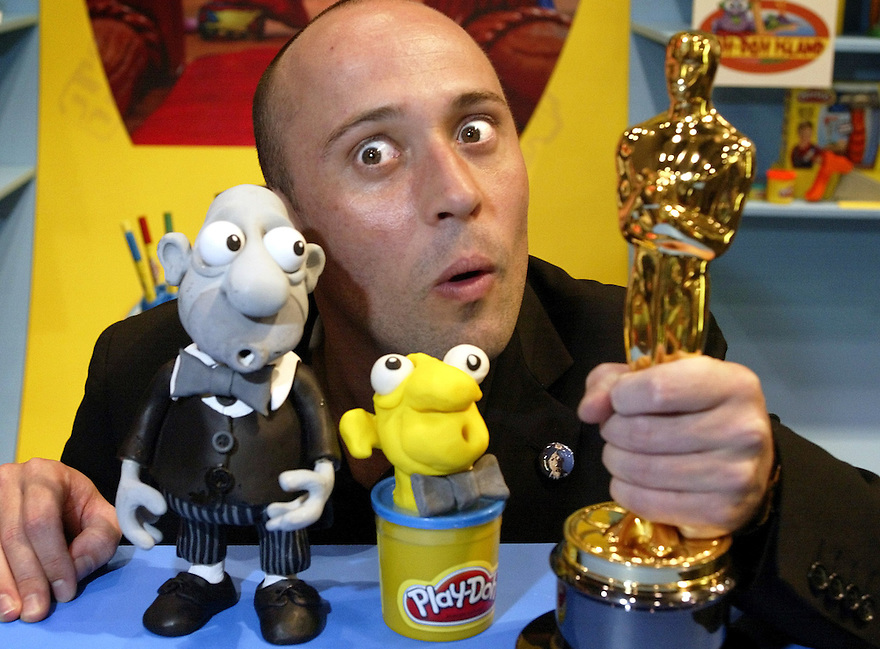 The eyes have it!. Academy Award winner Adam Elliot with his creation Harvie Krumpet