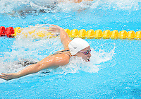 July 28, 2012: ALICIA COUTTS of Australia competes in women's 100m Butterfly semifinal at the Aquatics Center on day one of 2012 Olympic Games in London, United Kingdom.