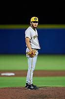 Bradenton Marauders pitcher Brayan Roman (23) during a game against the Dunedin Blue Jays on June 5, 2021 at TD Ballpark in Dunedin, Florida.  (Mike Janes/Four Seam Images)
