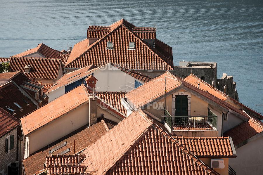 Stari Grad--Herceg Novi on Kotor Bay--terra cotta roofs