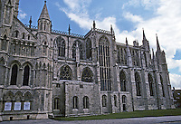 York: York Cathedral--South Transept, Choir, and Eastern End; elevation from south. Phto '90.