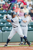 Jose Bonilla #9 of the Wilmington Blue Rocks at bat against the Winston-Salem Dash at BB&T Ballpark on April 23, 2011 in Winston-Salem, North Carolina.   Photo by Brian Westerholt / Four Seam Images
