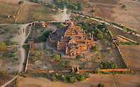 aerial view of the Dhammayangyi pagoda, Bagan, Myanmar