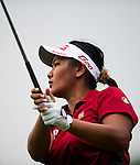 CHON BURI, THAILAND - FEBRUARY 17:  Numa Gulyanamitta of India tees off on the 8th hole during day two of the LPGA Thailand at Siam Country Club on February 17, 2012 in Chon Buri, Thailand.  Photo by Victor Fraile / The Power of Sport Images
