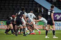 4th April 2021; Paris La Défense Arena, Nanterre, Paris, France; European Champions Cup Rugby, Racing 92 versus Edinburgh;  CAMILLE CHAT ( 2 - Racing ) drives forward