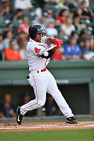 Shortstop Santiago Espinal (2) of the Greenville Drive in a game against the Asheville Tourists on Tuesday, May 2, 2017, at Fluor Field at the West End in Greenville, South Carolina. Asheville won, 7-1. (Tom Priddy/Four Seam Images)