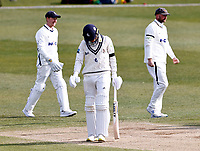 Kent's Matt Milnes is disconsolate after being dismissed by David Willey during Kent CCC vs Yorkshire CCC, LV Insurance County Championship Group 3 Cricket at The Spitfire Ground on 18th April 2021