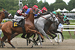 August 17, 2014: Kiss Cat (#6) is rank at break of $32,000 claiming for fillies & mares 3-year olds & up, 6 1/2 furlongs at Saratoga Racetrack. Sue Kawczynski/ESW/CSM