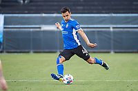 SAN JOSE, CA - MAY 15: Oswaldo Alanis #4 of the San Jose Earthquakes passes the ball during a game between San Jose Earthquakes and Portland Timbers at PayPal Park on May 15, 2021 in San Jose, California.
