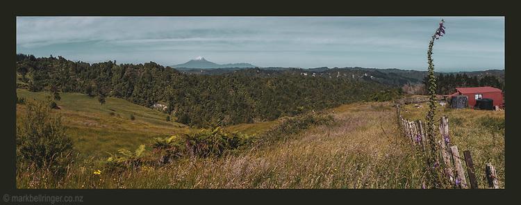 Okoki Valley, Taranaki, New Zealand landscape