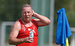 Rangers manager Ally McCoist cools down at training at the team's base in Germany