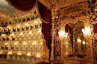 Veduta interna del Teatro La Fenice dalla Loggia Reale, a Venezia.<br /> Interior view from the Royal Loggia of La Fenice theater in Venice.<br /> UPDATE IMAGES PRESS/Riccardo De Luca