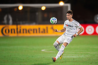 LAKE BUENA VISTA, FL - JULY 27: Tristan Blackmon #27 of LAFC dribbles the ball during a game between Seattle Sounders FC and Los Angeles FC at ESPN Wide World of Sports on July 27, 2020 in Lake Buena Vista, Florida.