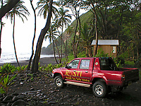 truck of RoSTI - Rosalie Sea Turtle Initiative, Dominica, Caribbean, Atlantic