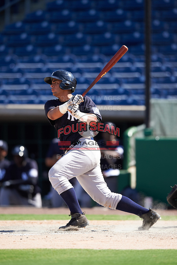 New York Yankees first baseman Miguel Flames (67) during an Instructional League game against the Philadelphia Phillies on September 27, 2016 at Bright House Field in Clearwater, Florida.  (Mike Janes/Four Seam Images)