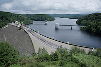 stretched peloton riding over the Gileppe dam<br /> <br /> stage 4: Hotel Verviers - La Gileppe (Jalhay/BEL) 186km <br /> 30th Ster ZLM Toer 2016
