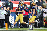 Philadelphia, PA - December 14, 2019:    Navy Midshipmen quarterback Malcolm Perry (10) scores a touchdown during the 120th game between Army vs Navy at Lincoln Financial Field in Philadelphia, PA. (Photo by Elliott Brown/Media Images International)