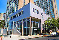 Philadelphia: Institute of Contemporary Art, U. of PA., 1991. Architects Adele Santos & Jacobs/Wyper. Tight budget, tight site hemmed in by tall dormitories. Photo '91.