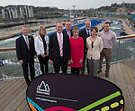 Gemau Cymru Launch 2014<br /> <br /> L-R Jon Morgan Disability Sport Wales, Rhian Gibson Welsh Gymnastics. John Griffiths AM Minister for Sport & Culture. Matt Newman, Welsh Athletics. Efa Gruffudd Jones, Urdd. Nigel Midgely, Canoe Wales. Laura McAllister, Sport Wales & Chris Ower, WRU. <br /> 31.03.14<br /> <br /> ©Steve Pope-SPORTINGWALES