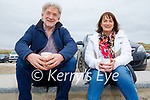 Enjoying a relaxing cuppa in Banna on Sunday, l to r: Douglas and Doreen Fitzell.