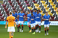 27th September 2020; Fir Park, Motherwell, North Lanarkshire, Scotland; Scottish Premiership Football, Motherwell versus Rangers; James Tavernier of Rangers celebrates after he makes it 3-0 to Rangers scoring his second penalty of the match in the 38th minute