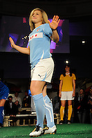 Ella Masar of the Chicago Red Stars during the Puma WPS uniform unveiling in Philadelphia, PA, on January 15, 2010.