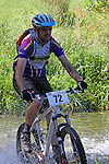 (72) goes through the first ford. Mammoth Adventure MTB Ride, Nelson<br /> Photo: Marc Palmano/shuttersport.co.nz