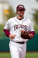 Brent Seifert (4) of the Missouri State Bears during a game against the Oral Roberts Golden Eagles on March 27, 2011 at Hammons Field in Springfield, Missouri.  Photo By David Welker/Four Seam Images