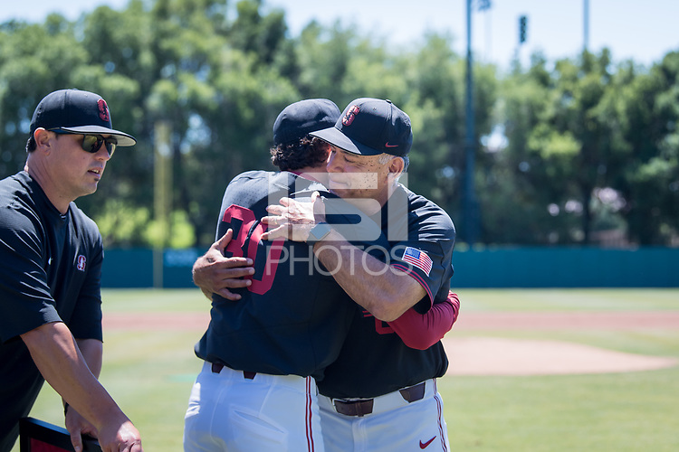 STANFORD, CA - MAY 29: Zach Grech, David Esquer before a game between Oregon State University and Stanford Baseball at Sunken Diamond on May 29, 2021 in Stanford, California.