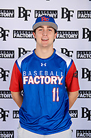 Aiden Mendolia (11) of All Saints Episcopal School in Fort Worth, Texas during the Baseball Factory All-America Pre-Season Tournament, powered by Under Armour, on January 12, 2018 at Sloan Park Complex in Mesa, Arizona.  (Mike Janes/Four Seam Images)